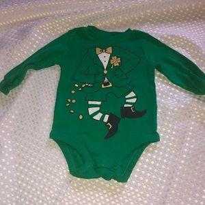 Green leprechaun bodysuit